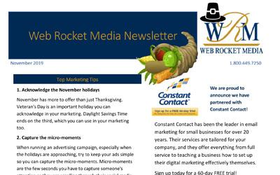 Newsletter November 2019 | Web Rocket Media | Long Island, NY SEO