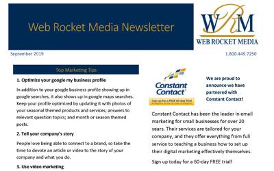 Newsletter September 2019   Web Rocket Media   Long Island, NY SEO