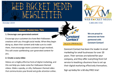 Newsletter October 2019 | Web Rocket Media | Long Island, NY SEO