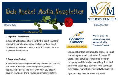 Newsletter February 2020 | Web Rocket Media | Long Island, NY SEO