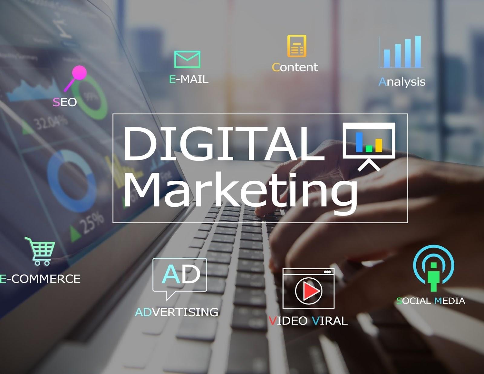 digital marketing, social media marketing, online advertising